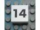 Part No: Mx1022Apb117  Name: Modulex Tile 2 x 2 with Black Calendar Week Number '14' Pattern