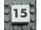 Part No: Mx1022Apb118  Name: Modulex Tile 2 x 2 with Black Calendar Week Number '15' Pattern