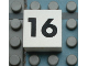 Part No: Mx1022Apb119  Name: Modulex Tile 2 x 2 with Black Calendar Week Number '16' Pattern