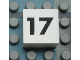 Part No: Mx1022Apb120  Name: Modulex Tile 2 x 2 with Black Calendar Week Number '17' Pattern
