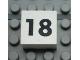 Part No: Mx1022Apb121  Name: Modulex Tile 2 x 2 with Black Calendar Week Number '18' Pattern