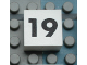 Part No: Mx1022Apb122  Name: Modulex Tile 2 x 2 with Black Calendar Week Number '19' Pattern