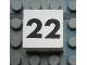Part No: Mx1022Apb125  Name: Modulex Tile 2 x 2 with Black Calendar Week Number '22' Pattern