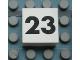 Part No: Mx1022Apb126  Name: Modulex Tile 2 x 2 with Black Calendar Week Number '23' Pattern
