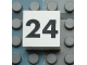 Part No: Mx1022Apb127  Name: Modulex Tile 2 x 2 with Black Calendar Week Number '24' Pattern