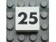 Part No: Mx1022Apb128  Name: Modulex Tile 2 x 2 with Black Calendar Week Number '25' Pattern