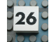Part No: Mx1022Apb129  Name: Modulex Tile 2 x 2 with Black Calendar Week Number '26' Pattern