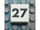 Part No: Mx1022Apb130  Name: Modulex Tile 2 x 2 with Black Calendar Week Number '27' Pattern