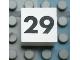 Part No: Mx1022Apb132  Name: Modulex Tile 2 x 2 with Black Calendar Week Number '29' Pattern