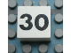 Part No: Mx1022Apb133  Name: Modulex Tile 2 x 2 with Black Calendar Week Number '30' Pattern