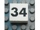 Part No: Mx1022Apb137  Name: Modulex Tile 2 x 2 with Black Calendar Week Number '34' Pattern