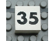Part No: Mx1022Apb138  Name: Modulex Tile 2 x 2 with Black Calendar Week Number '35' Pattern