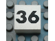 Part No: Mx1022Apb139  Name: Modulex Tile 2 x 2 with Black Calendar Week Number '36' Pattern
