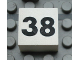 Part No: Mx1022Apb141  Name: Modulex Tile 2 x 2 with Black Calendar Week Number '38' Pattern