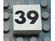 Part No: Mx1022Apb142  Name: Modulex Tile 2 x 2 with Black Calendar Week Number '39' Pattern