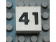 Part No: Mx1022Apb144  Name: Modulex Tile 2 x 2 with Black Calendar Week Number '41' Pattern
