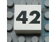 Part No: Mx1022Apb145  Name: Modulex Tile 2 x 2 with Black Calendar Week Number '42' Pattern