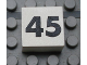 Part No: Mx1022Apb148  Name: Modulex Tile 2 x 2 with Black Calendar Week Number '45' Pattern