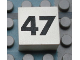 Part No: Mx1022Apb150  Name: Modulex Tile 2 x 2 with Black Calendar Week Number '47' Pattern