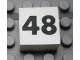 Part No: Mx1022Apb151  Name: Modulex Tile 2 x 2 with Black Calendar Week Number '48' Pattern