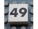 Part No: Mx1022Apb152  Name: Modulex Tile 2 x 2 with Black Calendar Week Number '49' Pattern