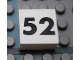 Part No: Mx1022Apb155  Name: Modulex Tile 2 x 2 with Black Calendar Week Number '52' Pattern