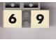 Part No: Mx1022Apb212  Name: Modulex Tile 2 x 2 with Black Calendar Week Number  '6' / '9' Pattern