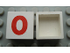 Part No: Mx1022Apb222  Name: Modulex Tile 2 x 2 with Red '0' Pattern (no internal support)