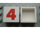 Part No: Mx1022Apb226  Name: Modulex Tile 2 x 2 with Red '4' Pattern (no internal support)
