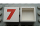 Part No: Mx1022Apb229  Name: Modulex Tile 2 x 2 with Red '7' Pattern (no internal support)