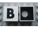 Part No: Mx1022Cpb02  Name: Modulex Tile 2 x 2 with Black 'B' Pattern (Black internal lining with White dot)