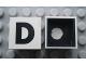 Part No: Mx1022Cpb04  Name: Modulex Tile 2 x 2 with Black 'D' Pattern (Black internal lining with White dot)
