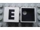 Part No: Mx1022Cpb05  Name: Modulex Tile 2 x 2 with Black 'E' Pattern (Black internal lining with White dot)