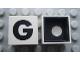 Part No: Mx1022Cpb07  Name: Modulex Tile 2 x 2 with Black 'G' Pattern (Black internal lining with White dot)