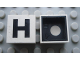 Part No: Mx1022Cpb08  Name: Modulex Tile 2 x 2 with Black 'H' Pattern (Black internal lining with White dot)