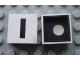 Part No: Mx1022Cpb09  Name: Modulex Tile 2 x 2 with Black 'I' Pattern (Black internal lining with White dot)
