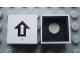 Part No: Mx1022Cpb26  Name: Modulex Tile 2 x 2 with Black Arrow Pattern (Black internal lining with White dot)