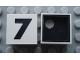 Part No: Mx1022Cpb39  Name: Modulex Tile 2 x 2 with Black  '7' Pattern (Black internal lining with White dot)