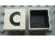 Part No: Mx1022Dpb03  Name: Modulex Tile 2 x 2 with Black 'C' Pattern (Black internal lining no dot)