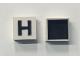 Part No: Mx1022Dpb08  Name: Modulex Tile 2 x 2 with Black 'H' Pattern (Black internal lining no dot)