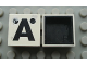 Part No: Mx1022Dpb26  Name: Modulex Tile 2 x 2 with Black 'Ä' Pattern (Black internal lining no dot)