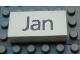 Part No: Mx1042pb39  Name: Modulex Tile 2 x 4 with Dark Gray Month 'Jan' Pattern