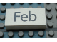 Part No: Mx1042pb40  Name: Modulex Tile 2 x 4 with Dark Gray Month 'Feb' Pattern