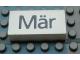 Part No: Mx1042pb41  Name: Modulex Tile 2 x 4 with Dark Gray Month 'Mär' Pattern