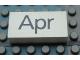 Part No: Mx1042pb42  Name: Modulex Tile 2 x 4 with Dark Gray Month 'Apr' Pattern