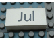 Part No: Mx1042pb45  Name: Modulex Tile 2 x 4 with Dark Gray Month 'Jul' Pattern