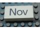Part No: Mx1042pb49  Name: Modulex Tile 2 x 4 with Dark Gray Month 'Nov' Pattern