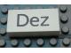 Part No: Mx1042pb50  Name: Modulex Tile 2 x 4 with Dark Gray Month 'Dez' Pattern