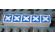 Part No: Mx1051pb05  Name: Modulex Tile 1 x 5 with Blue Crosses Outline Pattern