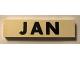 Part No: Mx1082pb01  Name: Modulex Tile 2 x 8 with Black Month 'JAN' Pattern